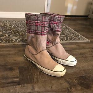 Converse rare mid-calf boot sneakers SZ Women's 10